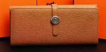 Hermes Dogon Original Leather Wallet H509 Brown