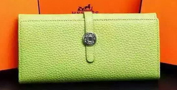 Hermes Dogon Original Leather Wallet H509 Light Green