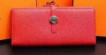 Hermes Dogon Original Leather Wallet H509 Red
