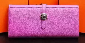 Hermes Dogon Original Leather Wallet H509 Rose