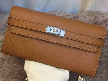 Hermes Kelly Wallet Epsom Leather H009 Brown