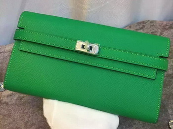 Hermes Kelly Wallet Epsom Leather H009 Green