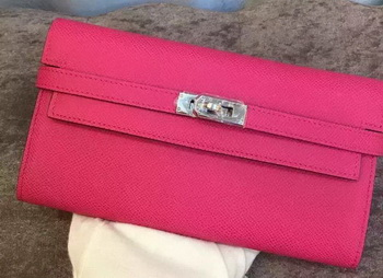 Hermes Kelly Wallet Epsom Leather H009 Rose