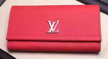 Louis Vuitton LOCKME II Wallet M62350 Red