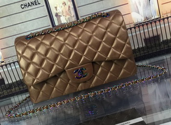 Chanel Classic Flap Bag Original Deerskin Leather A1113 Bronze