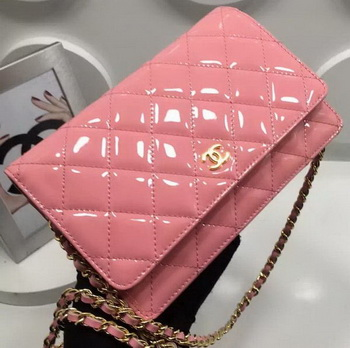 Chanel WOC mini Flap Bag Patent Leather A33814P Pink