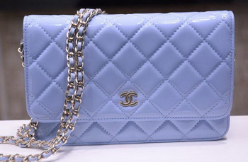Chanel mini Flap Bag Lavender Patent Leather A33814P Gold