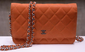 Chanel mini Flap Bag Nubuck Leather A33814N Orange