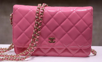 Chanel mini Flap Bag Pink Patent Leather A33814P Gold