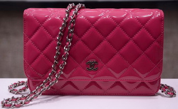 Chanel mini Flap Bag Rose Patent Leather A33814P Gold