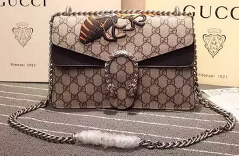 Gucci Dionysus GG Supreme Canvas Shoulder Bag 400249 Brown