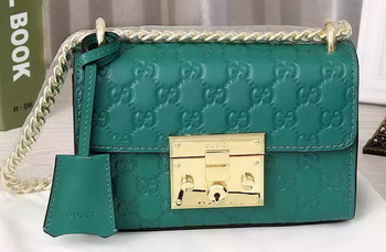 Gucci Padlock Gucci Signature Shoulder Bag 409487 Green