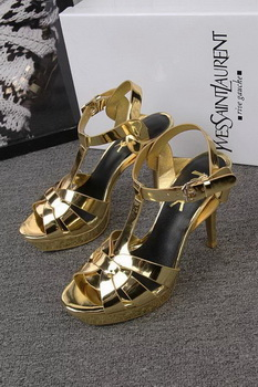Yves Saint Laurent 100mm Sandal YSL293 Gold