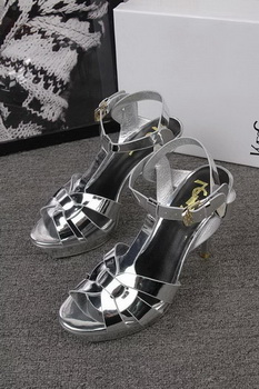 Yves Saint Laurent 100mm Sandal YSL293 Silver