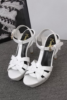 Yves Saint Laurent 100mm Sandal YSL293 White