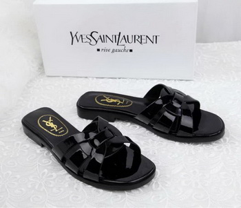 Yves Saint Laurent Patent Leather Slipper YSL287 Black