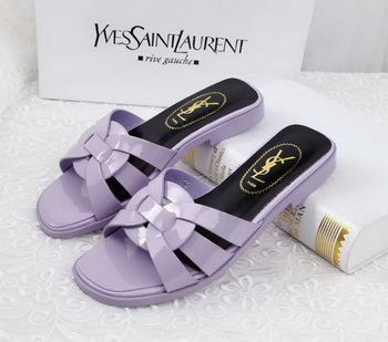 Yves Saint Laurent Patent Leather Slipper YSL287 Lavender