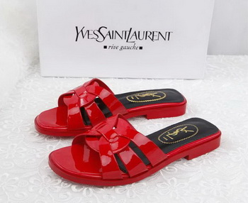 Yves Saint Laurent Patent Leather Slipper YSL287 Red