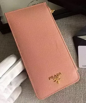 Prada Saffiano Leather Business Card Holder BR1751 Light Pink