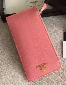 Prada Saffiano Leather Business Card Holder BR1751 Pink
