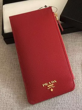 Prada Saffiano Leather Business Card Holder BR1751 Red