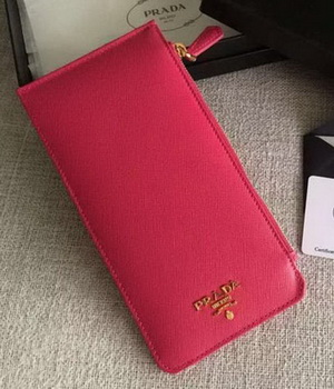Prada Saffiano Leather Business Card Holder BR1751 Rose