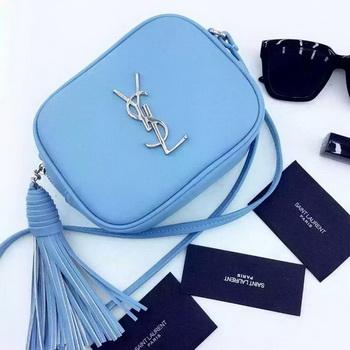 Yves Saint Laurent Monogram Blogger Bag Y16SS SKyBlue