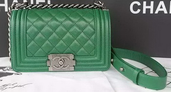 Boy Chanel Flap Shoulder Bag Caviar Leather A67085 Green