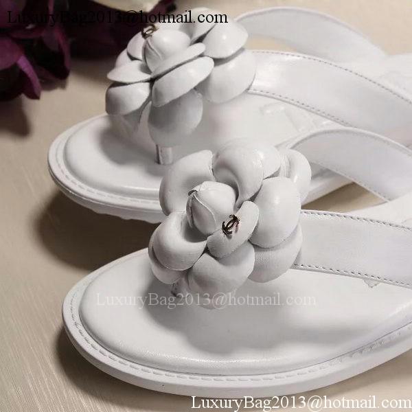 Chanel Thong Sandal CH1780 White