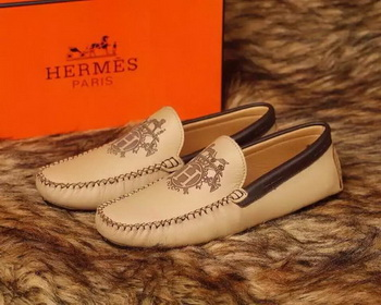 Hermes Casual Shoes HO713 Apricot