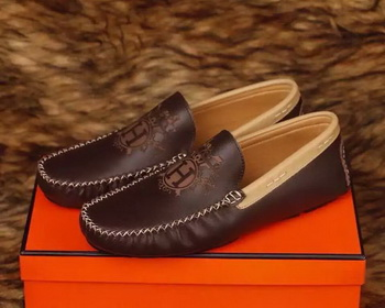 Hermes Casual Shoes HO713 Brown