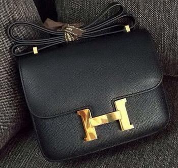 Hermes Constance Bag Calfskin Leather H9999 Black