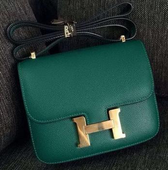 Hermes Constance Bag Calfskin Leather H9999 Green