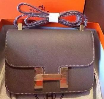 Hermes Constance Bag Calfskin Leather H9999 Grey
