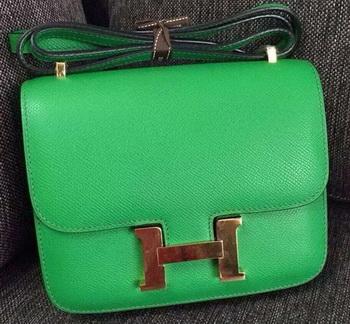 Hermes Constance Bag Calfskin Leather H9999 Light Green