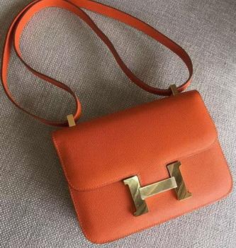 Hermes Constance Bag Calfskin Leather H9999 Orange