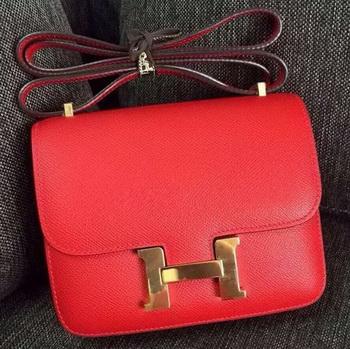 Hermes Constance Bag Calfskin Leather H9999 Red