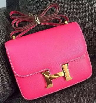Hermes Constance Bag Calfskin Leather H9999 Rose