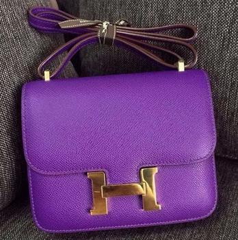 Hermes Constance Bag Calfskin Leather H9999 Violet