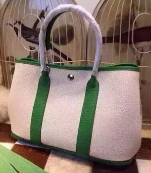 Hermes Garden Party 36cm Tote Bags Canvas HGP1927 Green