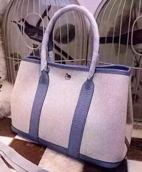 Hermes Garden Party 36cm Tote Bags Canvas HGP1927 Light Blue