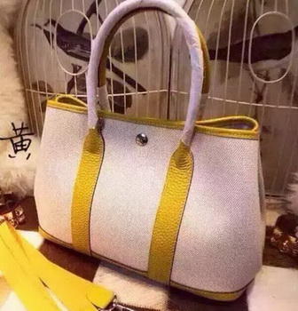 Hermes Garden Party 36cm Tote Bags Canvas HGP1927 Yellow