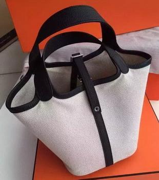 Hermes Picotin Lock 18cm Bag Canvas HPL8618T Black