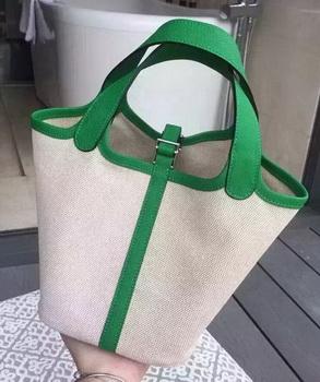 Hermes Picotin Lock 18cm Bag Canvas HPL8618T Green