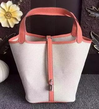 Hermes Picotin Lock 18cm Bag Canvas HPL8618T Light Pink