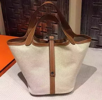 Hermes Picotin Lock 18cm Bag Canvas HPL8618T Wheat