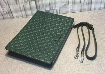 Gucci Signature Leather Messenger Bag 429004 Green