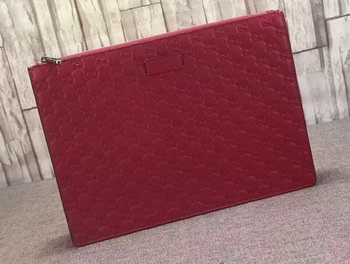 Gucci Signature Leather Messenger Bag 429004 Red