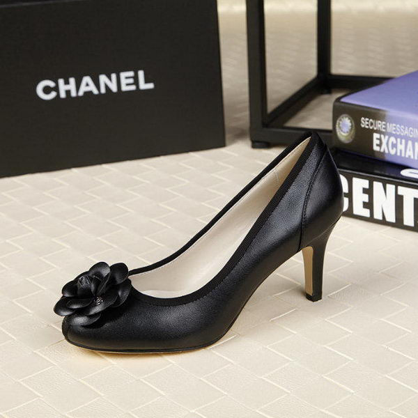 Chanel 80mm Leather Pump CH1817 Black