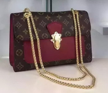 Louis Vuitton Monogram Canvas PALLAS CHAIN Bag M41731 Burgundy